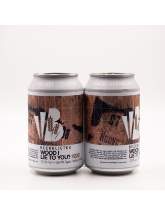 BEERBLIOTEK Wood I Lie To You 330ml CANS
