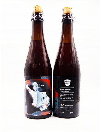 INDIE ALEHOUSE,  RITUAL MADNESS  Flanders Sour Red Ale aged on grapes, bottle 500ml