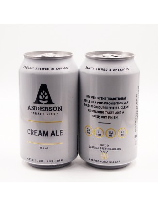 ANDERSON CREAM ALE can 355ml.